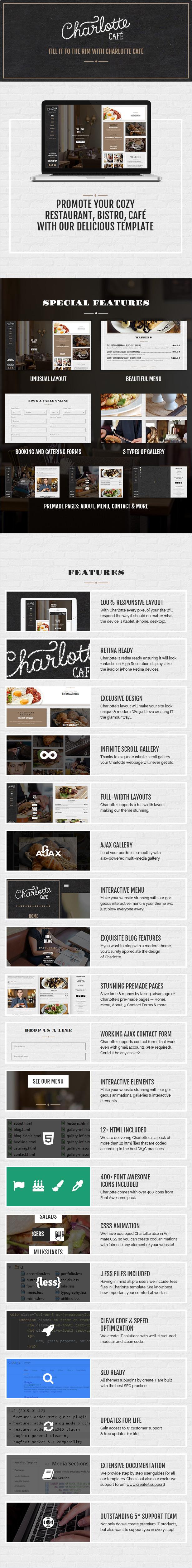 Charlotte - Café Bistro HTML Template